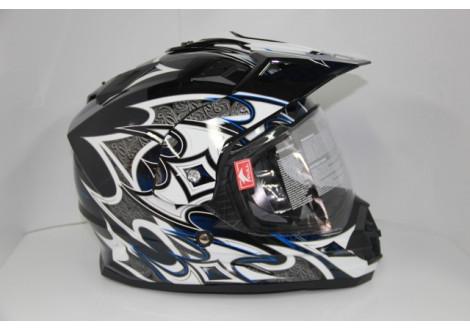 Шлем CYBER US-80#5 Black/Silver L
